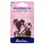 Hemline Bib and Brace Set - Bronze - 40mm